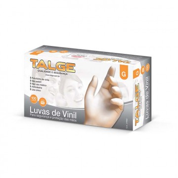 LUVA DE VINIL G C/100 TALGE