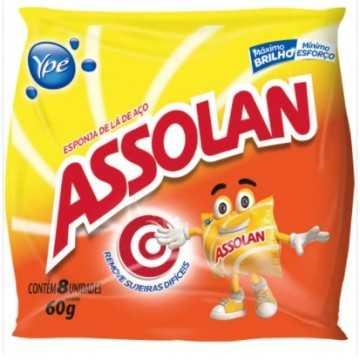 LÃ DE AÇO ASSOLAN C/8 60GR